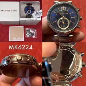 SOLD! Michael Kors MK6224 Sawyer Blue Womens Watch